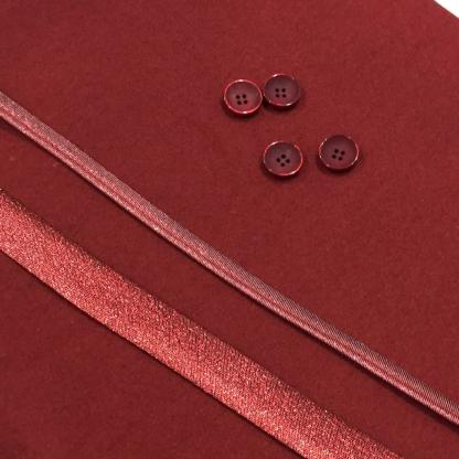 Christine Charles – Kit Couture Veste Armélia Couleur Rouge et Rouge Lamé