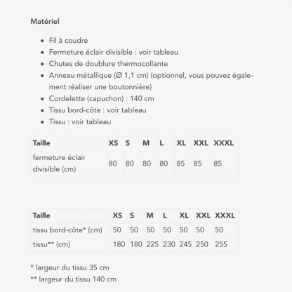 Fibre Mood – Patron PDF Numérique Femme Sweat à Capuche Hazel du XS au XXXL