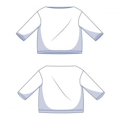 Fibre Mood - Patron PDF Numérique Femme T-Shirt Afra du XS au XXXL
