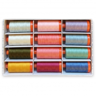 "Liberty London – Coffret Collector ""The English Garden"" 12 Bobines par Aurifil"