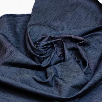 Sélection Coup de coudre - Tissu Denim Léger de Coton Mélangé Uni Couleur Bleu Marine