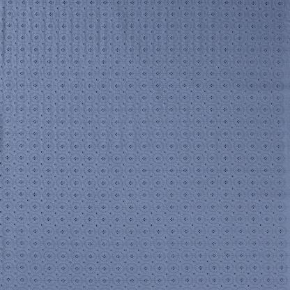 Sélection Coup de coudre - Tissu Popeline de Coton Broderie Anglaise Ajouré Cercles Uni Couleur Bleu Denim