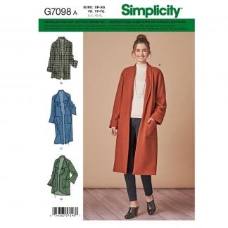 Simplicity – Patron Femme Cardigan n°7098/8742 du 34 au 52