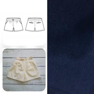 Christine Charles – Kit Couture Short Jillian Couleur Bleu Marine