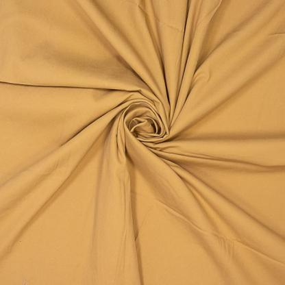 Fibre Mood - Tissu Sergé de Coton Stretch Uni Couleur Ocre