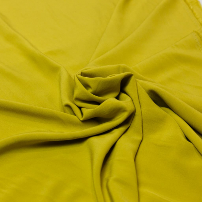 Sélection Coup de coudre - Tissu Crêpe de Viscose Uni Couleur Jaune Vert