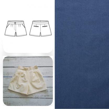 Christine Charles – Kit Couture Short Jillian Couleur Bleu Moyen