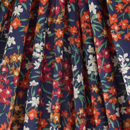 Liberty London - Tissu Sea Blossoms Tana Lawn Coton Bleu Marine