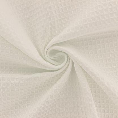 Sélection Coup de coudre - Tissu Eponge de Coton Nid d'Abeille Uni Couleur Ecru