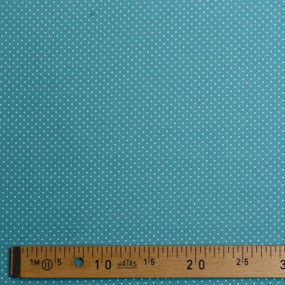 Sélection Coup de coudre - Tissu Popeline de Coton Enduit Imprimé Pois Blancs sur le Fond Vert Menthe