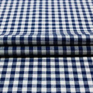 Sélection Coup de coudre - Tissu Vichy de Coton à Carreaux Bleu Foncé sur le Fond Blanc