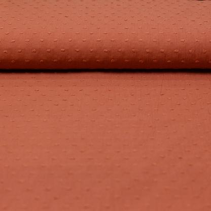 Sélection Coup de coudre - Tissu Voile de Coton Plumetis Uni Couleur Marsala