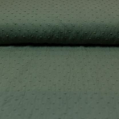 Sélection Coup de coudre - Tissu Voile de Coton Plumetis Uni Couleur Vert Kaki