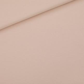 See You at Six - Tissu Jersey Sweat Léger de Coton Uni Couleur Rose Pâle