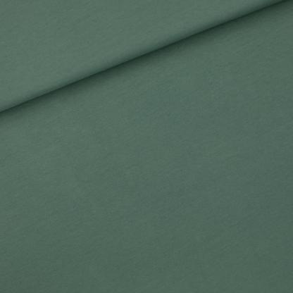 See You at Six - Tissu Jersey Sweat Léger de Coton Uni Couleur Vert Armoise