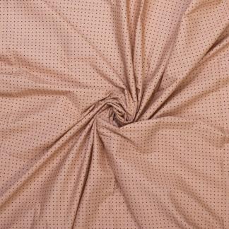 Fibre Mood - Tissu Popeline de Coton Imprimé Petites Etoiles sur le Fond Abricot