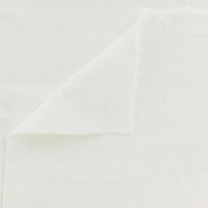 France Duval Stalla - Tissu Toile de Coton Matelassé Tayio Uni Couleur Blanc Cassé