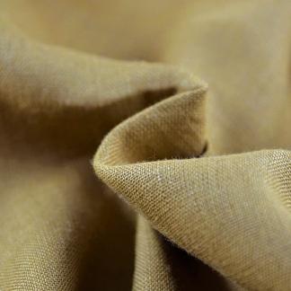 La Maison Victor - Tissu Toile Fine de Lin Uni Couleur Camel