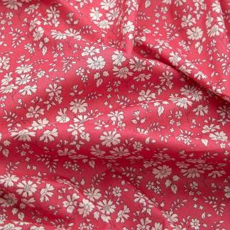 Liberty London - Tissu Capel Organic Tana Lawn Coton Couleur Géranium