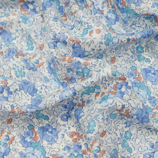 Liberty London - Tissu Claire-Aude Organic Tana Lawn Coton Couleur Bleu