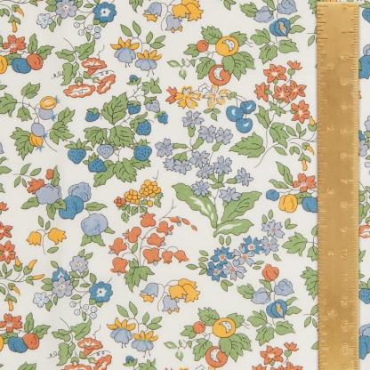 Liberty London - Tissu Nancy Ann Organic Tana Lawn Coton Couleur Orange