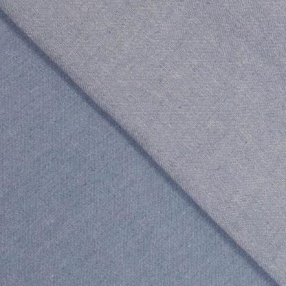 Sélection Coup de coudre - Tissu Chambray de Coton Uni Couleur Denim Léger Bleu Blanchi
