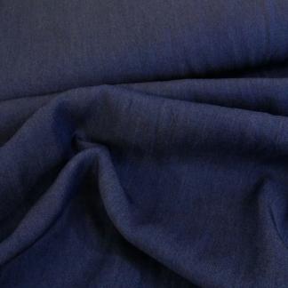 Sélection Coup de coudre - Tissu Chambray de Tencel Uni Couleur Bleu Foncé