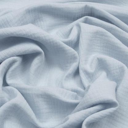 Sélection Coup de coudre - Tissu Double Gaze de Coton Uni Couleur Bleu Clair