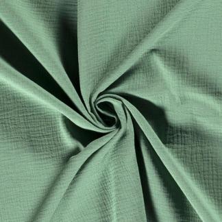 Sélection Coup de coudre - Tissu Double Gaze de Coton Uni Couleur Vert Menthe