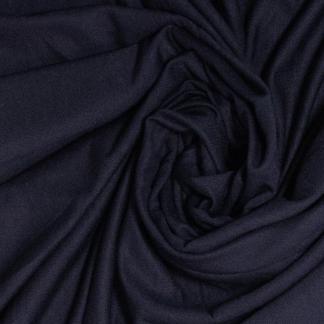 Sélection Coup de coudre - Tissu Jersey Sweat Léger de Bambou Uni Couleur Bleu Marine