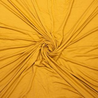 Sélection Coup de coudre - Tissu Jersey Sweat Léger de Bambou Uni Couleur Jaune Ocre