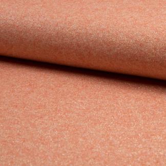 Sélection Coup de coudre - Tissu Jersey de Viscose Mélangé Lurex Couleur Orange