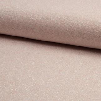 Sélection Coup de coudre - Tissu Jersey de Viscose Mélangé Lurex Couleur Rose Poudré