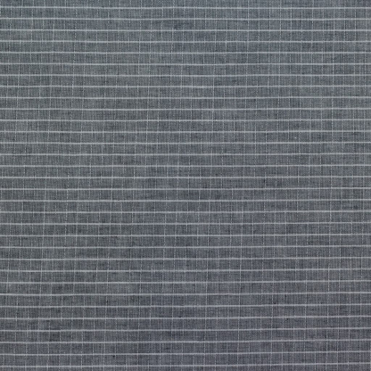 Sélection Coup de coudre - Tissu Popeline de Coton à Rayures Fines Gris Anthracite et Blanc Tissé Teint