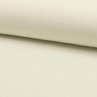 Sélection Coup de coudre - Tissu Toile de Lin Fine Uni Couleur Ecru