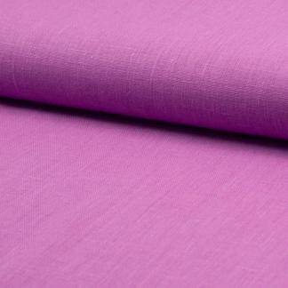Sélection Coup de coudre - Tissu Toile de Lin Fine Uni Couleur Orchidée