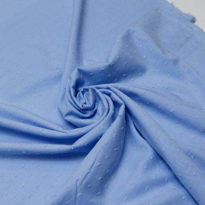 Sélection Coup de coudre - Tissu Voile de Coton Plumetis Uni Couleur Bleu Clair