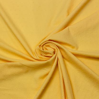 Sélection Coup de coudre - Tissu Voile de Coton Plumetis Uni Couleur Jaune Poussin
