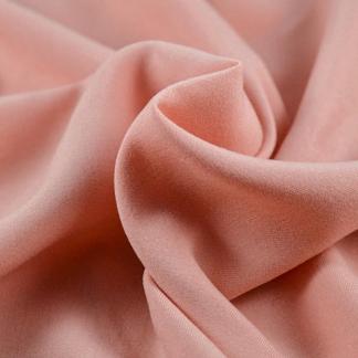 La Maison Victor - Tissu Twill de Lyocell Uni Couleur Rose Poudré