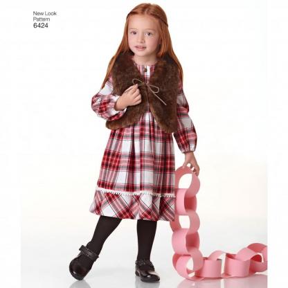 New Look – Patron Enfant Tunique, Robe, Legging et Gilet n°6424 3-8 ans