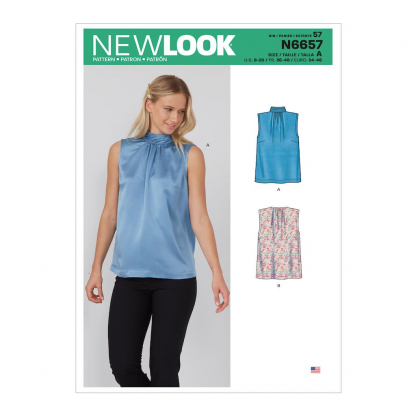New Look – Patron Femme Haut n°6657 du 38 au 48