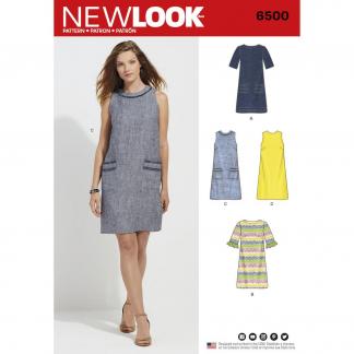 New Look – Patron Femme Robe n°6500 du 38 au 50
