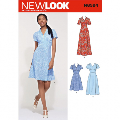 New Look – Patron Femme Robe n°6594 du 34 au 46
