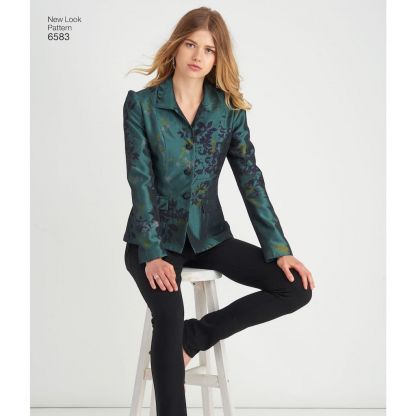 New Look – Patron Femme Veste Tailleur n°6583 du 36 au 48