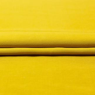 Sélection Coup de coudre - Tissu Toile de Lin et Viscose Uni Couleur Jaune Ocre