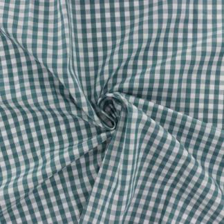 Sélection Coup de coudre - Tissu Vichy de Coton à Carreaux Vert Canard sur le Fond Blanc