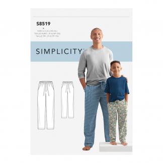 Simplicity – Patron Homme et Garçon Pantalon S8519/G7029 du 34 au 52