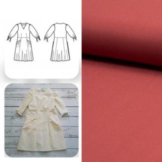 Christine Charles – Kit Couture Robe Eleanora Uni Couleur Bois de Rose