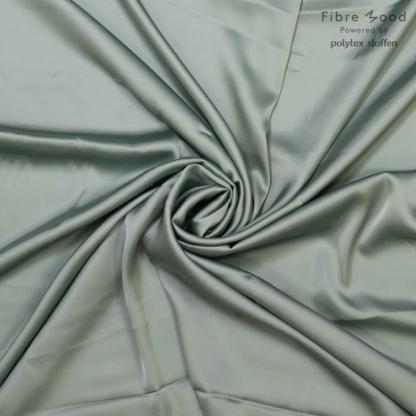 Fibre Mood - Tissu Satin de Viscose Stretch Uni Couleur Vert Menthe