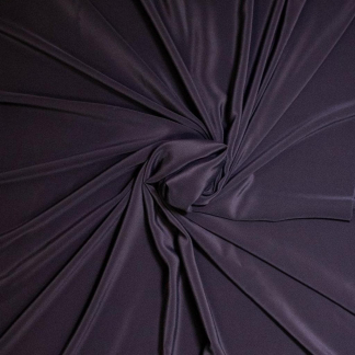 Sélection Coup de coudre - Tissu Challis de Soie Lavé Uni Couleur Noir